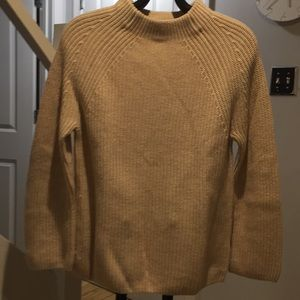 Pullover beige mock turtleneck sweater